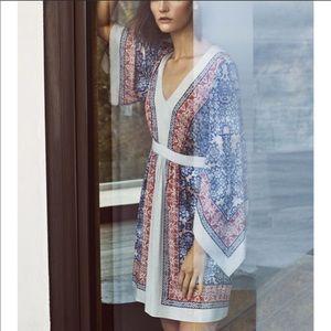 BCBGMaxAzria Jenissa Blossoms Printed Kimono Dress